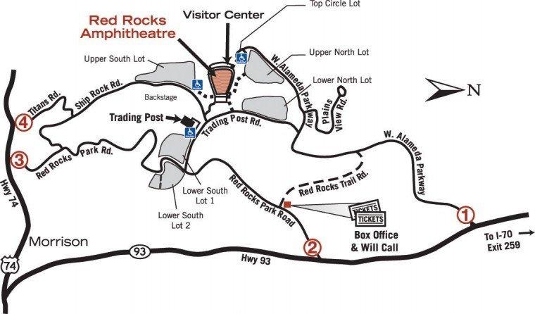 Parking map red rocks