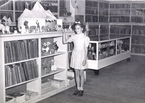 The children's area at Main Library, Carnegie Building, 1951